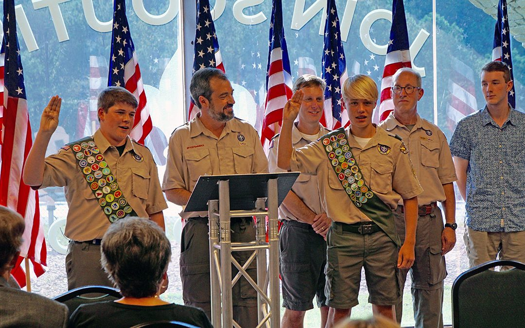 Troop 76 in Vestavia Hills Welcomes New Eagles