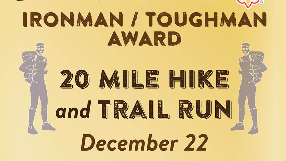 20 Mile Hike and Trail Run December 22, 2019