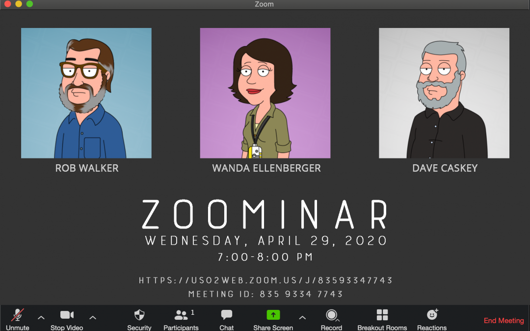 Zoom Seminar on Wednesday, April 29