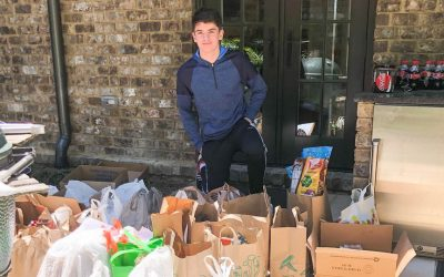 Troop 28 has a successful food drive